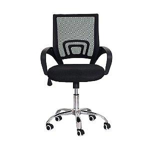 Cadeira Escritorio Basic Mesh Baixa Preta FDB1149PR