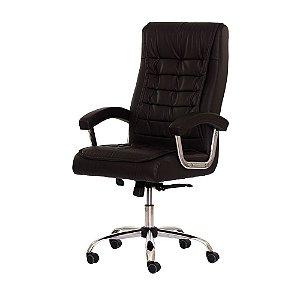 Cadeira Escritório Presidente Big Marrom/Café FDA9233MR