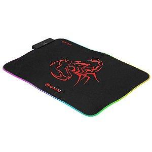Mousepad Gamer Redragon Scorpion Marvo RGB 300X230X3MM-MG08