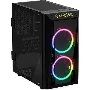 Gabinete Gamer Gamdias Talos E1 Preto RGB com Fan