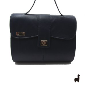 Bolsa Original Lhama em couro legítimo Azul FLTX29JJN