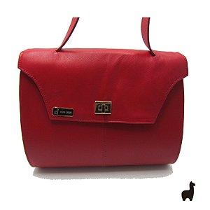 Bolsa Original Lhama em couro legítimo vermelha Z3V47H7G6