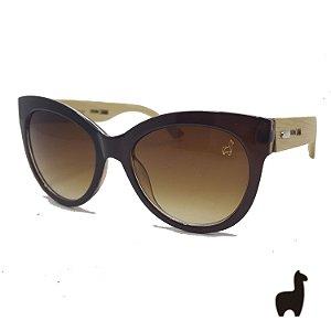 Óculos de Sol Original Lhama em Acetato e Bambu 8G7C9CM4J