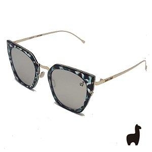 Óculos de Sol Original Lhama em Acetato Flat Lens DNQHK7BDH