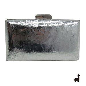 Bolsa Clutch em Metal e Material Sintético 38H3L82SJ