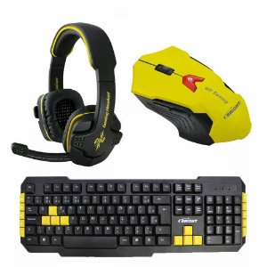 Kit Combo Gamer Mouse + Teclado + Headset - IG 01