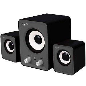 Caixa de Som 2.1 Power Song Com Subwoofer 16w - NewLink Sp202