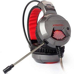 Headset Fone De Ouvido Gamer Grafite - Leadership X6