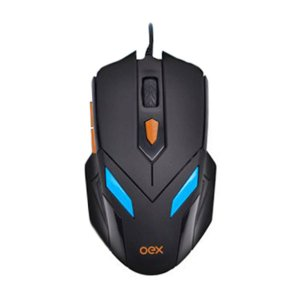 Mouse Luminoso 07 Cores 2400DPI + Mousepad Antiskid - OEX  MC100