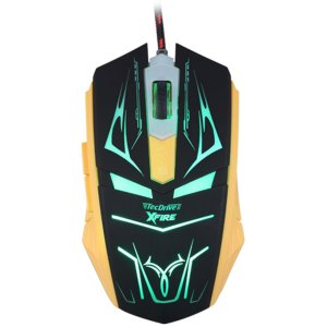 Mouse Gamer 3200 DPI 7 Botoes Xfire Led Verde - TecDrive Neith