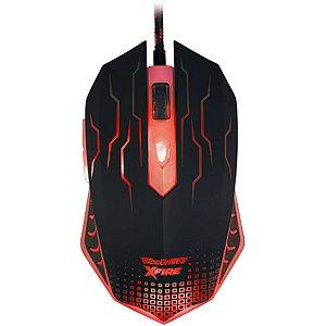 Mouse Gamer 3200 DPI 7 Botoes Xfire Led Vermelho - TecDrive WuXi