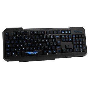 Teclado Gamer com Teclas Iluminadas USB - C3 Tech KG-02L BK