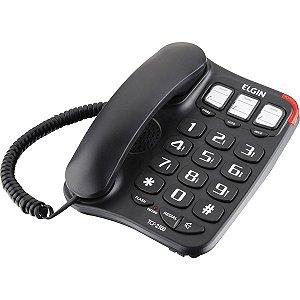 Telefone Com Fio Preto - Elgin TCF2300