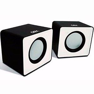 Caixa de Som Speaker Cube Preto/Branco - OEX SK102