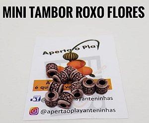 MIÇANGA APERTA O PLAY C/10 UNIDADES - MINI TAMBOR ROXO FLORES