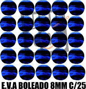 E.V.A 8MM APERTA O PLAY C/25 - AZUL COM PRETO