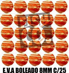 E.V.A 8MM APERTA O PLAY C/25 - LARANJA E BRANCO