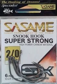 ANZOL SASAME - SNOOK HOOK SUPER STRONG 6X N.2/0 C/6