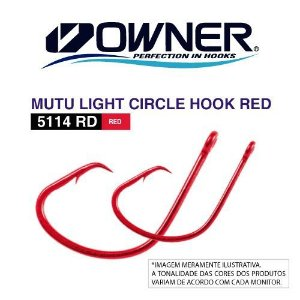 ANZOL OWNER MUTU CIRCLE HOOK RED