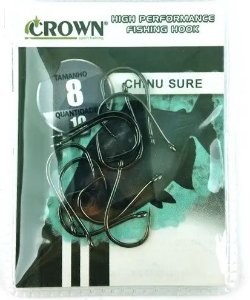 ANZOL CROWN - CHINU SURE BLACK (SEM FISGA)