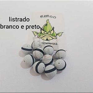 E.V.A BABOO 12MM LISTRADO BRANCO COM PRETO C/10