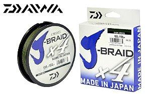 LINHA MULTIFILAMENTO DAIWA J-BRAID DARK GREEN 4X 135m