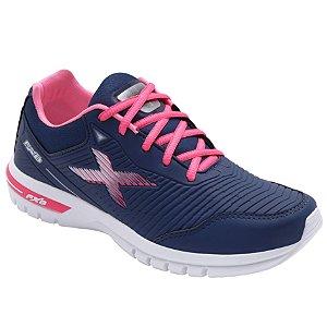 Tênis Esportivo Feminino Fxb Marinho/Pink