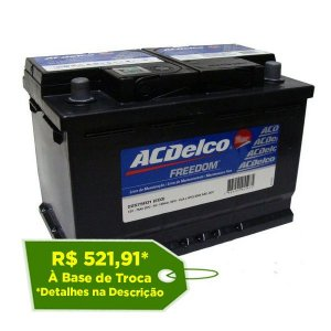 Bateria ACDelco 70Ah Silver – ADS70ND – 24 Meses de Garantia