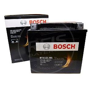 Bateria Bosch Moto 12Ah - BTX12L-BS - Selada - ( Ref. Yuasa: YTX14L-BS )