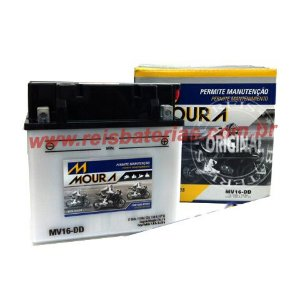 Bateria Moura Moto / Jet-Ski 19Ah - MV19-DD ( Antiga MV16-DD ) - ( Ref. Yuasa: YB16CL-B )