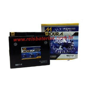 Bateria Moura Moto 11Ah - MA11-E - Selada AGM ( Ref. Yuasa: YT12B-BS )