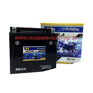 Bateria Moura Moto 12Ah MA12-E - Selada - ( Antiga MA14-E ) ( Ref. Yuasa: YTX14-BS )