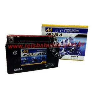 Bateria Moura Moto 6Ah - MA6-E ( Antiga MA7-E ) - Selada AGM ( Ref. Yuasa: YTX7A-BS )
