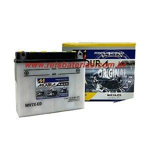 Bateria Moura Moto 7Ah - MV7-E ( Antiga MV7X-ED ) - ( Ref. Yuasa: YB7B-B )