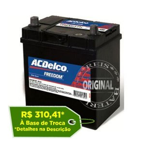 Bateria ACDelco 38Ah – ADR38JD – Original de Montadora