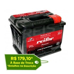 Bateria Reifor Premium 45Ah – RP45VKSD / RP45VKSE – Livre de Manutenção