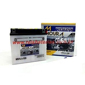 Bateria Moura Moto 5,5Ah - MV5,5-D ( Ref. Yuasa: 12N5,5-3B )