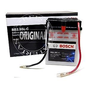 Bateria Bosch Moto 2,55Ah - BB2.55L-C - Ventilada ( Ref. Yuasa: YB2.5L-C )