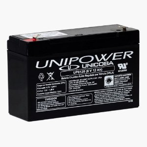Bateria Estacionária VRLA ( AGM ) Unipower 6V – 12Ah – UP6120