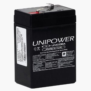 Bateria Estacionária VRLA ( AGM ) Unipower 6V – 4,5Ah – UP645SEG