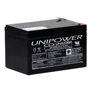 Bateria Estacionária VRLA ( AGM ) Unipower 12V – 12Ah – UP12120
