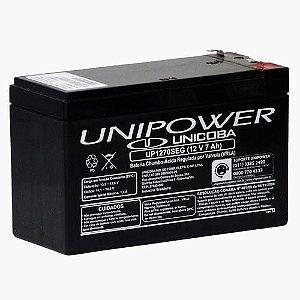 Bateria Estacionária VRLA ( AGM ) Unipower 12V – 7Ah – UP1270SEG