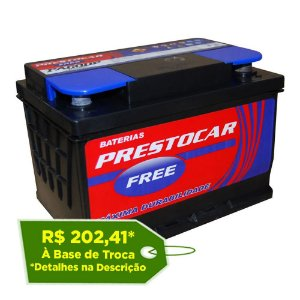 Bateria Prestocar Free 60Ah - PA60DF / PA60EF - Selada