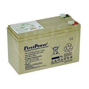Bateria Estacionária VRLA ( AGM ) First Power 12V - 7Ah - FP1270ALS ( Centrais de Alarmes )