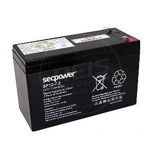 Bateria Estacionária VRLA ( AGM ) SecPower 12V - 7,2Ah - SP12-7,2