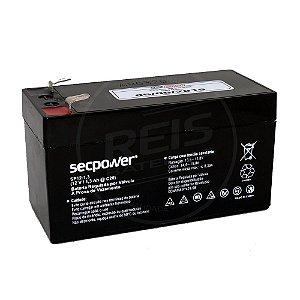 Bateria Estacionária VRLA ( AGM ) SecPower 12V - 1,3Ah - SP12-1,3