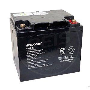 Bateria Estacionária VRLA ( AGM ) SecPower 12V - 40Ah - SP12-40