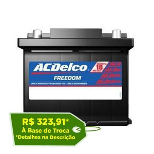 Bateria ACDelco 40Ah - ADR40FD - Original de Montadora