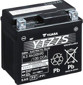 Bateria de Moto Yuasa 6,3Ah - Ytz7-S
