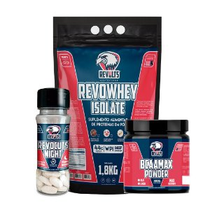 Revocuts Night 30 Tabs + RevoWhey Isolate 1,8kg + BcaaMax Powder 300g